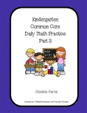 Kindergarten Common Core Daily Math Practice Part 3