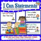 Kindergarten Common Core ELA and Math Standards {Navy Blue