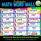 Kindergarten Common Core Essential Math Vocabulary Word Wa