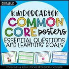 Kindergarten Common Core {Essential Questions &amp; Learning G