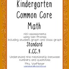 Kindergarten Common Core- K.CC.4- mini-assessments