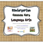Kindergarten Common Core Language Arts Posters