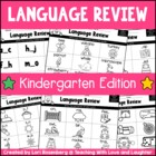 Kindergarten Common Core Language Review Sheets