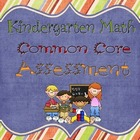 Kindergarten Common Core Math Assessment- Spring