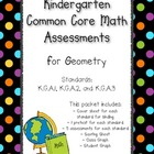 Kindergarten Common Core Math Assessments- Geometry K.G.1,