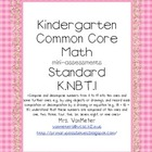 Kindergarten Common Core Math Assessments- K.NBT.1