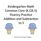 Kindergarten Common Core Math Fluency Game