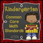 Kindergarten Common Core Math Objectives