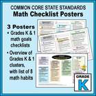 Kindergarten Common Core Math Standards Posters ~ CCSS Ove