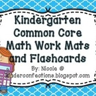 Kindergarten Common Core Math Workmats, Centers, and Flashcards