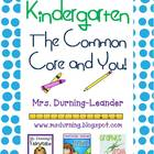 Kindergarten Common Core Math and ELA Guide