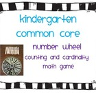 Kindergarten Common Core Number Wheel Math Game