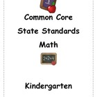 Kindergarten Common Core Parent handbook on math standards