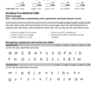 Kindergarten Common Core Reading Assessment