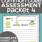 Kindergarten Common Core Standards Assessment Packet - Quarter 4