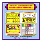 Kindergarten Common Core Standards: Reading: Foundational Skills