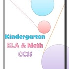 Kindergarten Common Core State Standards ELA and Math Checklist