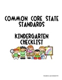 Kindergarten Common Core State Standards Checklist