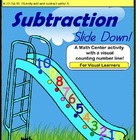 Kindergarten Common Core Subtraction Math Center Activity