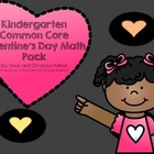 Kindergarten Common Core Valentine's Day Math Pack