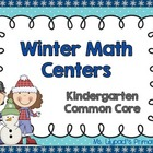 Kindergarten Common Core Winter Math Centers Pack