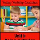 Kindergarten Common Core Writing Unit 1 {Introduction to t