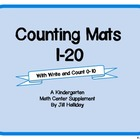Kindergarten Counting Mats 1-20