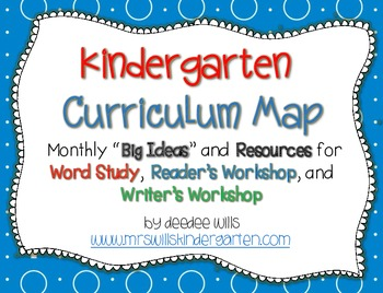 Kindergarten Curriculum Map-ELA FREEBIE