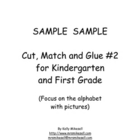 Kindergarten Cut, Match and Glue #2 Sample