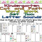 Kindergarten Cut and Paste Word Work- Set Two- Letter Sounds