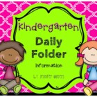 Kindergarten Daily Folder Information