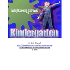 Kindergarten Daily Literacy Journals