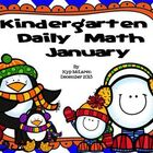 Kindergarten Daily Math Common Core Aligned - January