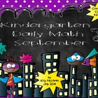 Kindergarten Daily Math - September (Common Core Aligned)