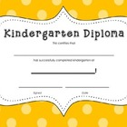 Kindergarten Diploma Certificate: Orange