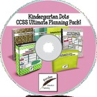 Kindergarten Dots CCSS Ultimate Planning Pack on CD