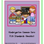 Kindergarten ELA Common Core Standards Checklist