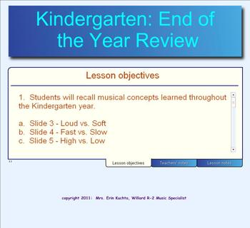 Kindergarten; End Of The Year Music Concept Review