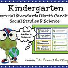 Kindergarten Essential Standards Posters for SS &amp; Science 