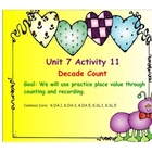 Kindergarten Everyday Math SMARTboard Activities for 7.11