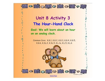 Kindergarten Everyday Math SMARTboard Activities for 8.3