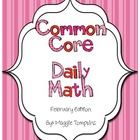 Kindergarten February Common Core Daily Math