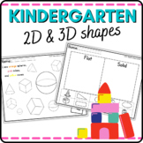 Kindergarten Geometry 2D and 3D Shapes Common Core:  Activ
