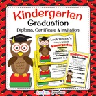 Kindergarten Graduation Diploma and Invitation Cute Owl Aw
