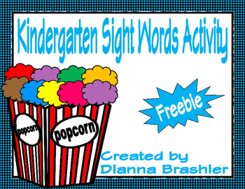 Kindergarten High Frequency Words 1-24