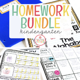 Homework MEGA-BUNDLE: Kindergarten (Editable)