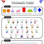 Kindergarten Homework Folder Helper