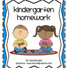 Kindergarten Homework or Morning Work - 36 Weeks