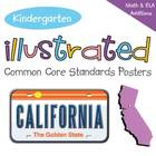 Kindergarten Illustrated Common Core Standards Posters - C
