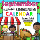Kindergarten Interactive Calendar (SEPTEMBER) - for Promet